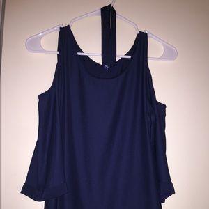 Silk navy blue shirt